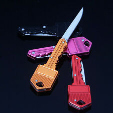Mini Pocket Key Folding Knife Blade Outdoor Survival Hunting Tool Cute Gift
