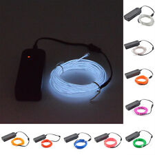 3m 10 Colors USB EL Wire,Tube Rope Battery Powered Flexible Neon Cold Light Car
