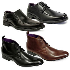 MENS SMART WEDDING SHOES ITALIAN FORMAL OFFICE  CASUAL SYN LEATHER BOOTS SIZES