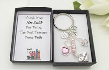 Teacher Keyring.Pink Apple.Gift Box.End Of Term.School Leavers.Thank You Gift