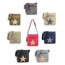 UNISEX STAR Bag MESSENGER Canvas Shoulder Bag CrossOver Shoulder Bag