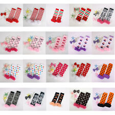 Cute Baby Toddler Girls Legging Socks Lace Cotton Ruffle Kneepad Arm Leg Warmers