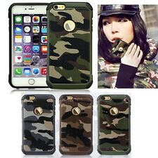 Camo Heavy Duty Shockproof Tough Armor Case Cover Camouflage for iPhone 6S 6 5S