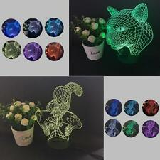 Colorful Changing LED Night Light Lamp Home Room Party Desk Decor Visual Lamp SD