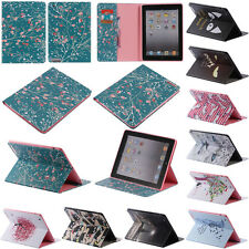 Cute Cartoon Animal Folio Flip PU Leather Stand Case Cover for iPad Samsung
