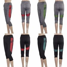 Women's Capri Cropped Leggings Stretch Yoga Pants Gym Fitness Workout Activewear