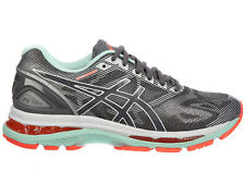 NEW WOMENS ASICS GEL-NIMBUS 19 RUNNING SHOES TRAINERS CARBON / WHITE / FLASH COR