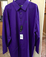 New JF J FERRAR DRESS SHIRT BIG TALL SZ 20 36/37,20 34/35,19 34/35 VIOLET MENS
