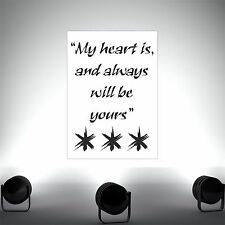 My heart is -Quote poster print wall art
