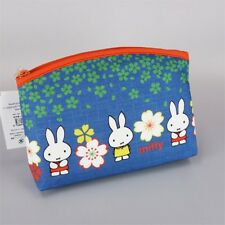 Miffy Cotton Makeup Pouch Cosmetic Bag Purse Accessory Case from Japan R2027