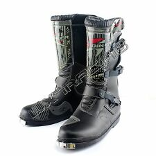 Motocross MX Pit Dirt bike Offroad Racing Motorcycle Boots Leather Long Shoes
