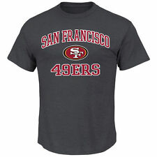 Majestic San Francisco 49ers Charcoal Big & Tall Heart & Soul III T-Shirt
