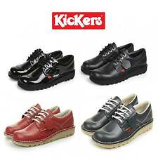 Kickers KICK LO CORE Girls Womens Leather Office Casual Lace Up School Shoes