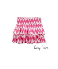 JUSTICE Girls Chevron Tiered Shimmer Skirt, NEW, 16 18  Pink White