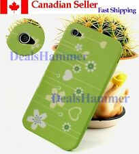 Cute Green Silicone Case Cover Back Skin for Apple Iphone 4 4S SHIP FROM CANADA