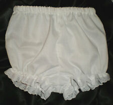 Infant Girls White Boutique Handmade Bloomers babies w/eyelet trim Custom NB-18M