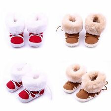 Baby Kids Girls Boys Shoes Coral Fleece Booties Boots Anti-skid Shoes Prewalkers