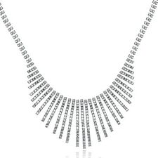 Gold Silver Plated Alloy Chain Women Charm Rhinestone Crystal Necklace & Pendant