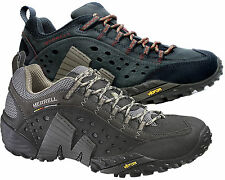 Merrell Mens Real Leather Walking Trainer Casual Hiking Shoe Intercept