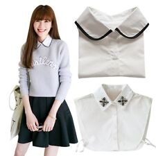 Womens Fake Collar Vintage Peter Pan Detachable Necklace Choker Tie Shirt Collar