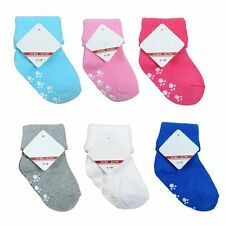 Newborn Baby Boy Girl Anti Slip Socks Cartoon Cotton Blend Socks Soft Warm Socks