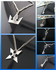 Wholesale Kingdom Hearts Sora Crown Roxas Cross Necklace Pendant Figure In Stock