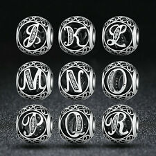 DIY European 925 Sterling Silver Alphabet Collection Name Letter Charm Beads