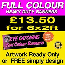 6ft x 2ft  PVC Banners Outdoor Vinyl Banner Advertising Sign Display 011