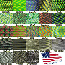 550lb Parachute Rope Paracord Green Colors 10' 25' 50' 100' Outdoor Survival