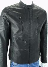 Armani Exchange A|X Mens Moto Faux Leather Zip Quilted Padded Jacket Coat NWT