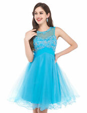 Lace Prom Ball Gown Cocktail Evening Party Homecoming Short Mini Dress NEW SALE!