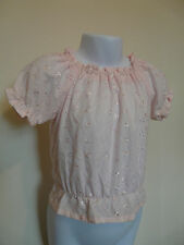 NEW NEXT BABY GIRL PALE PINK BRODERIE ANGLAISE SUMMER TOP SIZE 3-6 MONTHS