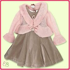 NWT Floriane  of  France Girls  2Pc Velvet Dress and Sweater     RETAIL $229.00