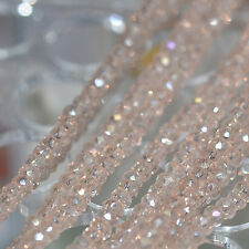 New Colors  Rondelle Faceted Crystal Glass Loose Spacer Beads 4/6/8mm Natural