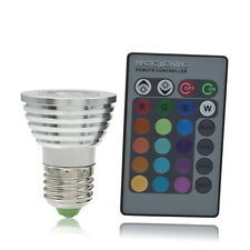 5W E27 Multi Color Change RGB LED Light Bulb Lamp with Remote Control CU