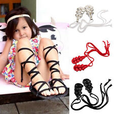 Baby Girls Infant Toddler PU Leather Gladiator Strappy Dress Sandals Shoes 0-24M