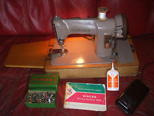 Singer 185K Electric Sewing Machine with case, accessories and instructions