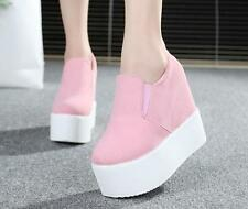 Womens Platform Wedge Heel Ankle Boots Sneakers Fashion athletic Shoes