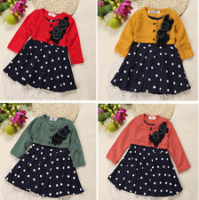Baby Girl Clothes Autum Long Sleeve Party Dress Spring Clothing Tutu Tshirt Top