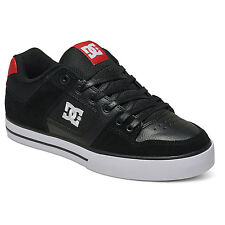 DC Shoes Trainers Skate Sneakers Pure Black/Athletic Red New