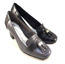 Anne Klein Iflex Frisca Leather Square Toe Thick Heel Loafers Choose Sz/Color