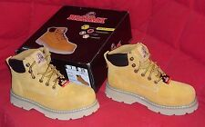 BRAHMA STEEL TOE LEATHER WORK BOOTS, MENS SIZE 7  *NEW*