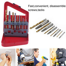 5-10PCS/SET Screw Extractor Drill Set Fast Speed Broken Damaged Bolt Remover EG