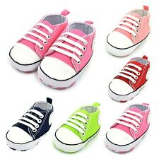 Infant Toddler Crib Shoes Baby Boy Girl Sneaker Soft Sole Newborn 0-18 Months