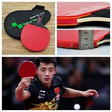 1 PC  Handle With Bag Ping Pong Paddle Table Tennis Racket Bat Carbon Fiber