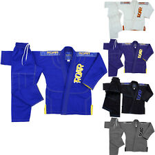 AKRON Blank Kids Jiu Jitsu Gi Youth Training Gracie Brazilian Suit BJJ kimono