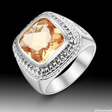 Neutral Fashion Jewelry Morganite 925 Silver Gemstone Ring size 7 8 9