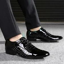 Stylish Mens Dress Wedding Business Formal Oxfords patent  leather Shoes Brogues