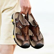 Men's Flip Flops Summer Stylish Beach Sandals Leather Casual Sport flat Shoes