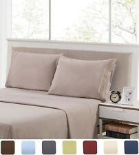 HIGHEST QUALITY Brushed Microfiber - 4 Piece Bed Sheet Set Deep Pocket Bed Sheet